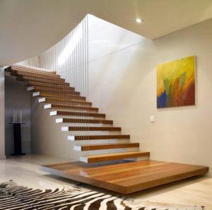 tangga keren kayu melayang