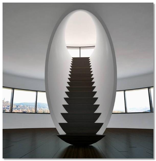 tangga modern bentuk aneh dan unik