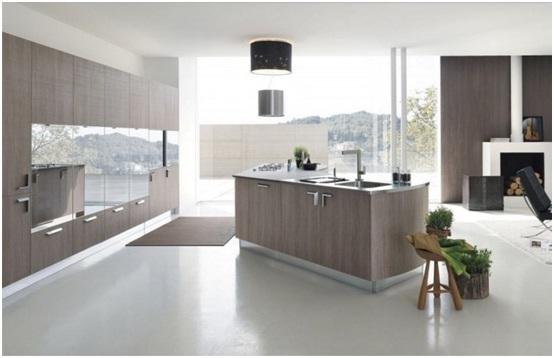Masuknya cahaya matahari di dapur meminimalkan penggunaan lampu