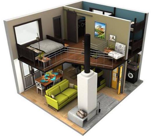 denah rumah tingkat minimalis 3 kamar tidur