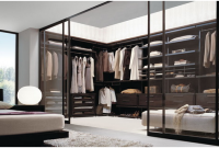 konsep walkin wardrobe pada kamar tidur
