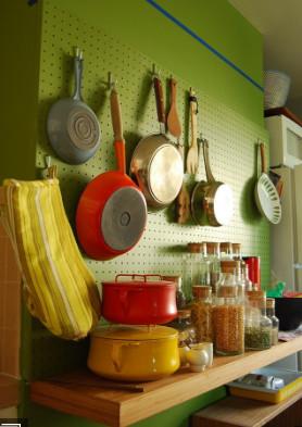 pegboard dapat membuat dapur semakin rapi