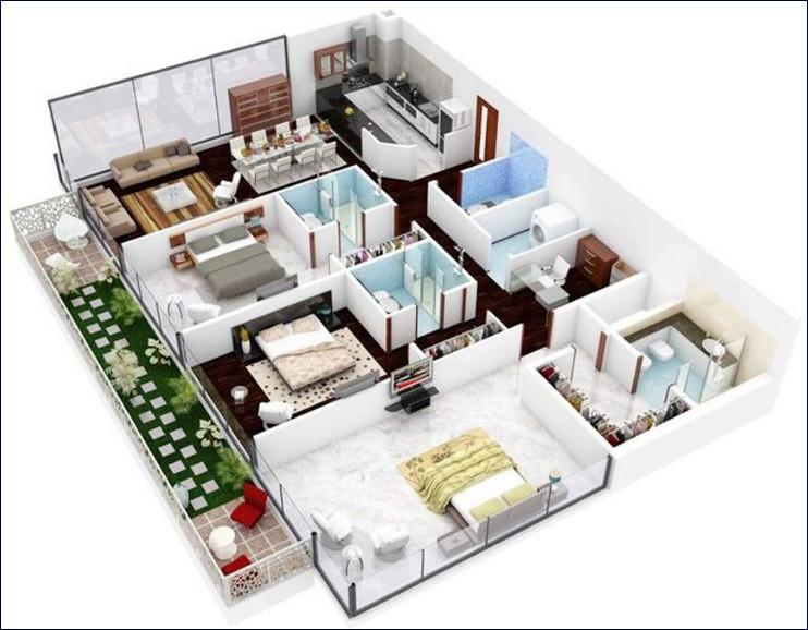 rumah minimalis 3 kamar tidur modern