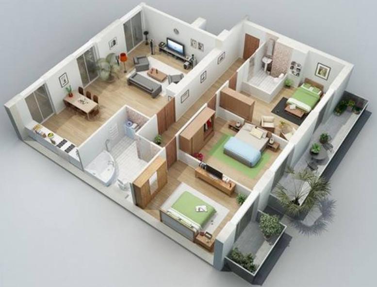 rumah minimalis cantik 3 kamar tidur
