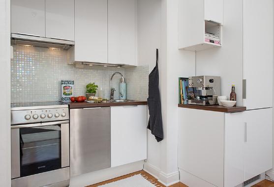 contoh desain dapur kecil pada apartemen