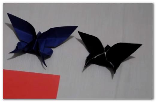 hiasan dinding untuk kamar dari kertas origami