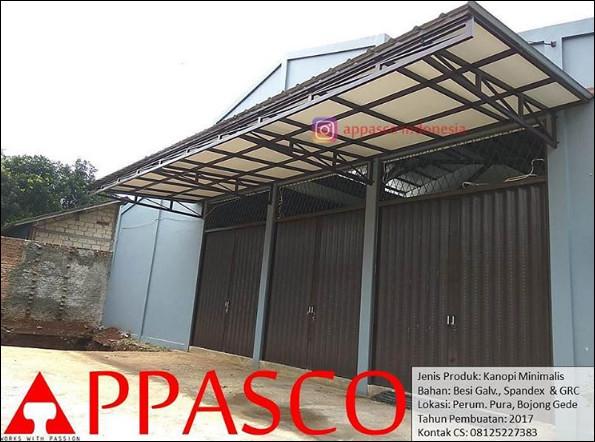 kanopi minimalis atap plafon