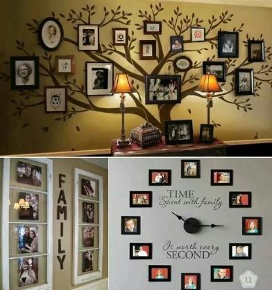 kumpulan kolase unik mempercantik ruangan