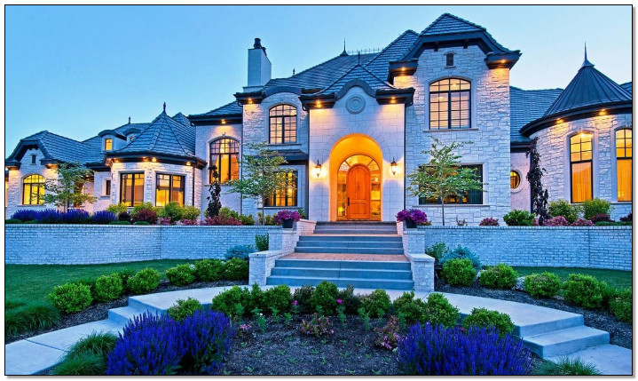 rumah terbagus di dunia dengan gaya klasik taman cantik