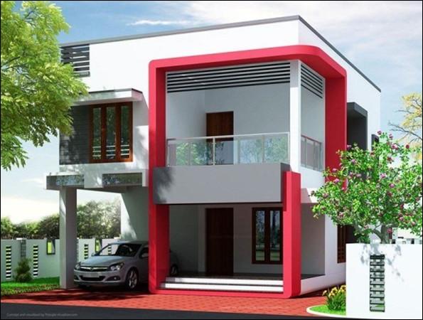 eksterior rumah warna cerah