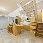 interior rumah mungil modern minimalis ruang dapur basement