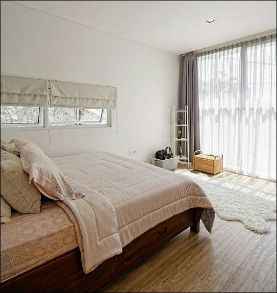 interior rumah mungil modern minimalis ruang kamar tidur
