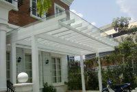 kanopi atap kaca modern