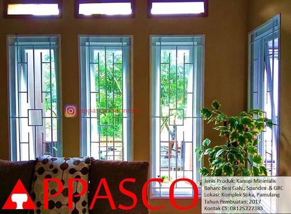 ornamen minimalis pada teralis jendela