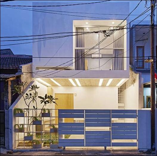 rumah mungil modern minimalis tampak depan