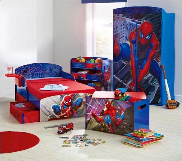 tempat tidur dan furniture kamar anak laki-laki spiderman