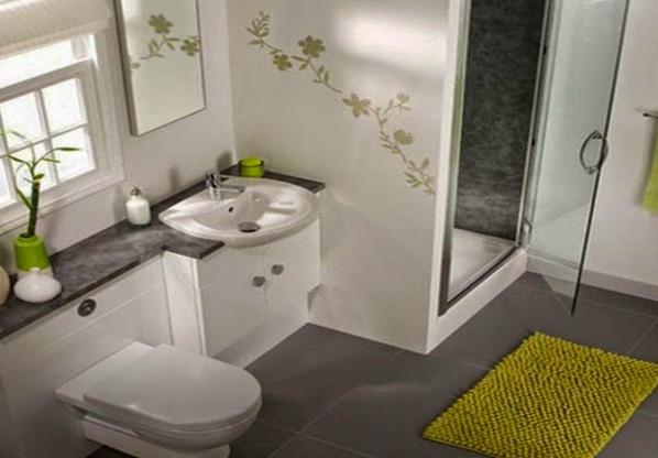 trik mendesain kamar mandi minimalis terbaru