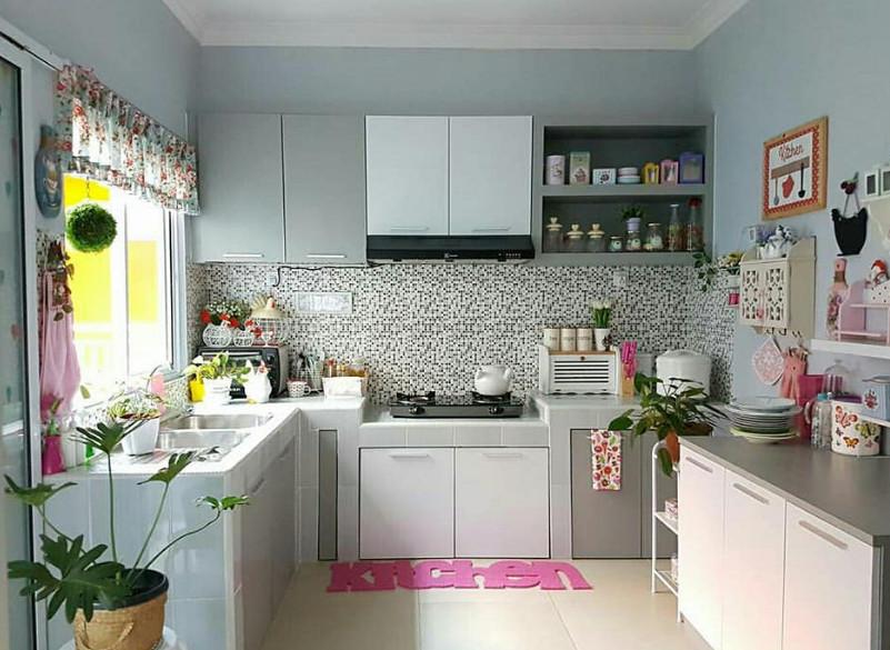 dapur cantik rumah minimalis yang bersih dan sehat