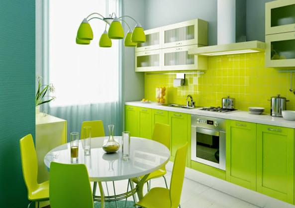 dapur hijau yang rapi