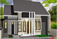 desain abu dan putih rumah tampak depan