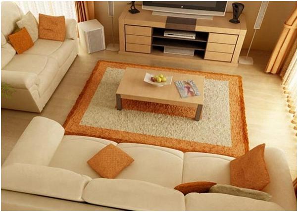 desain karpet coklat untuk ruang warna coklat
