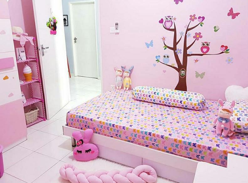 kamar tidur minimalis anak perempuan