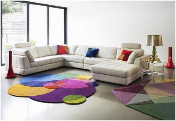 karpet cantik warna warni untuk ruang tamu