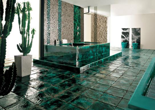 keramik hijau kamar mandi