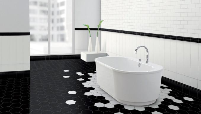 keramik hitam kamar mandi