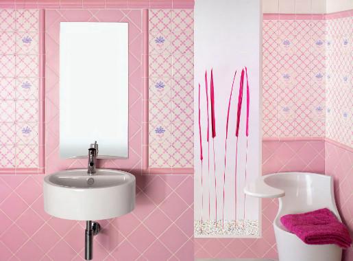 keramik pink kamar mandi
