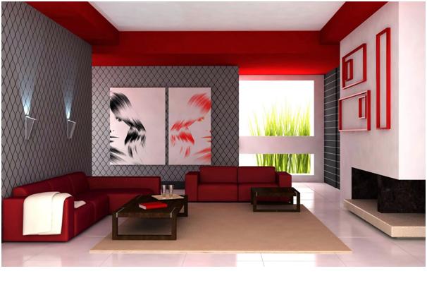 merah dan putih ruang tamu