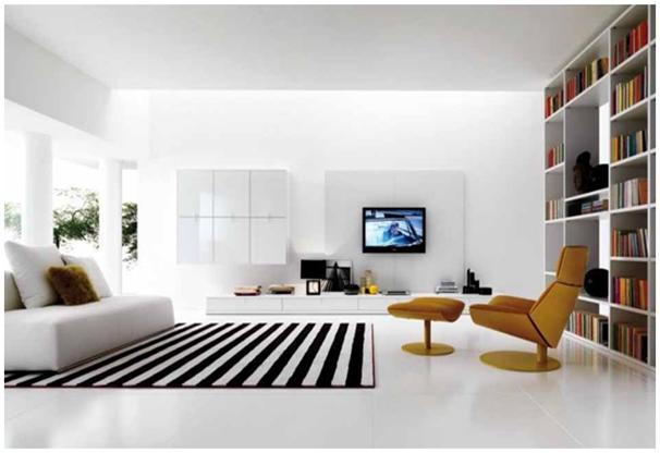 ornamen karpet yang membuat desain ruangan menjadi oke