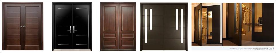 pintu kayu minimalis dengan 2 pintu modern