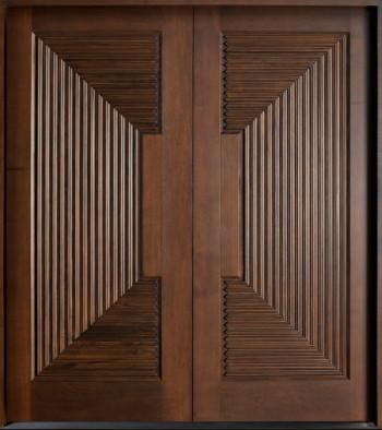 pintu minimalis ukiran 2 pintu utama