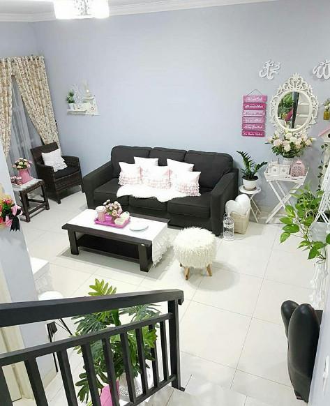 ruang tamu rumah minimalis cantik dan sehat