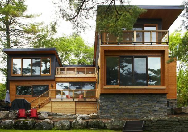 rumah modern dari bambu