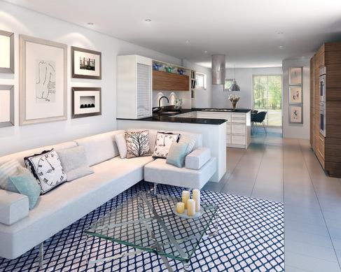 dapur yang terhubung dengan ruang tamu