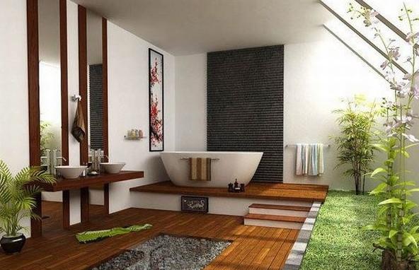 kamar mandi jepang modern natural
