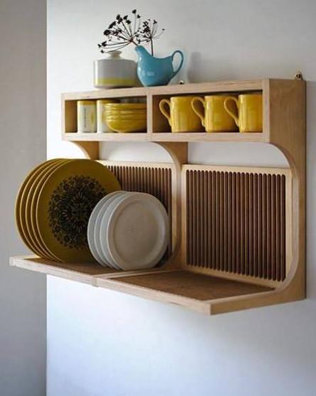 rak piring gantung kayu