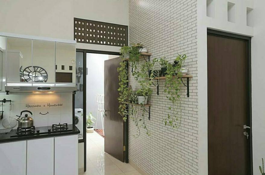 wall decor di area dapur yang keren