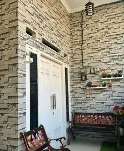wallpaper di teras rumah