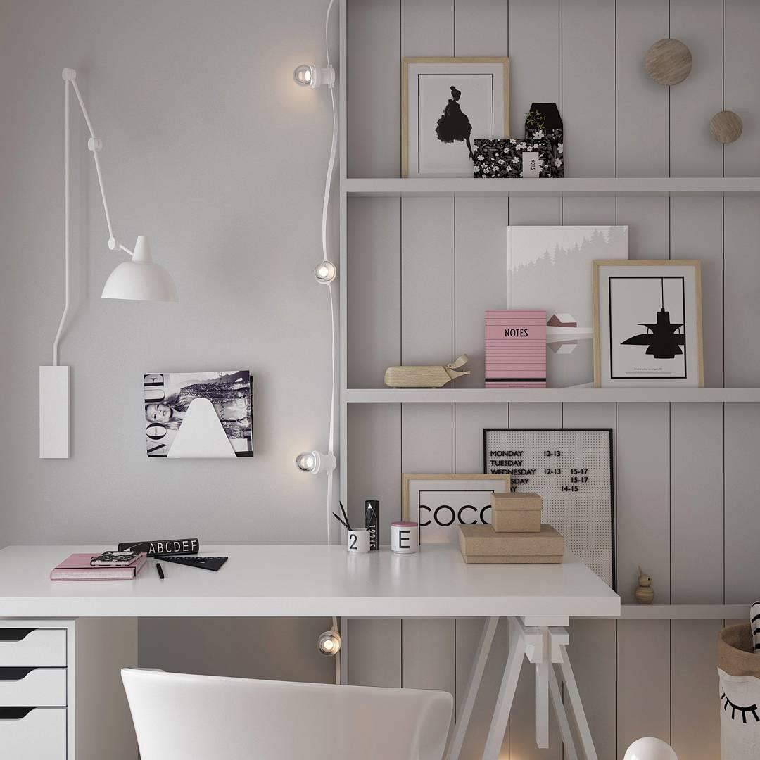 meja belajar modern yang minimalis gaya klasik