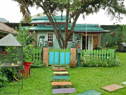 rumah hijau di desa