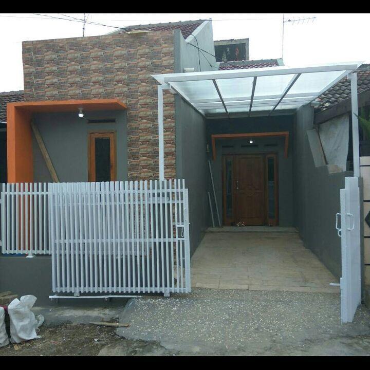 contoh cat abu-abu tampak depan rumah