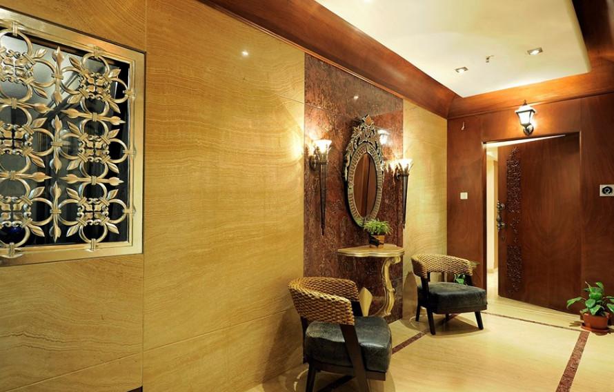 desain apartemen gaya klasik kuno kolosal - ruang tamu lobi