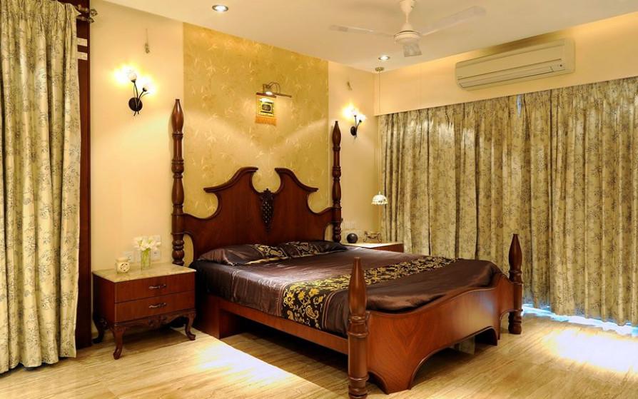 kamar tidur desain klasik kuno campur modern