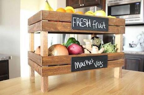 rak buah cantik untuk di meja makan