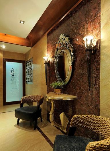 ruang lobi rumah desain klasik kuno kolosal