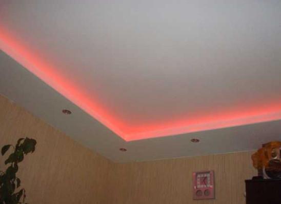 desain lampu plafon warna pink
