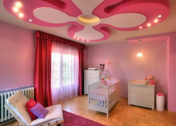 plafond rumah warna pink kamar anak